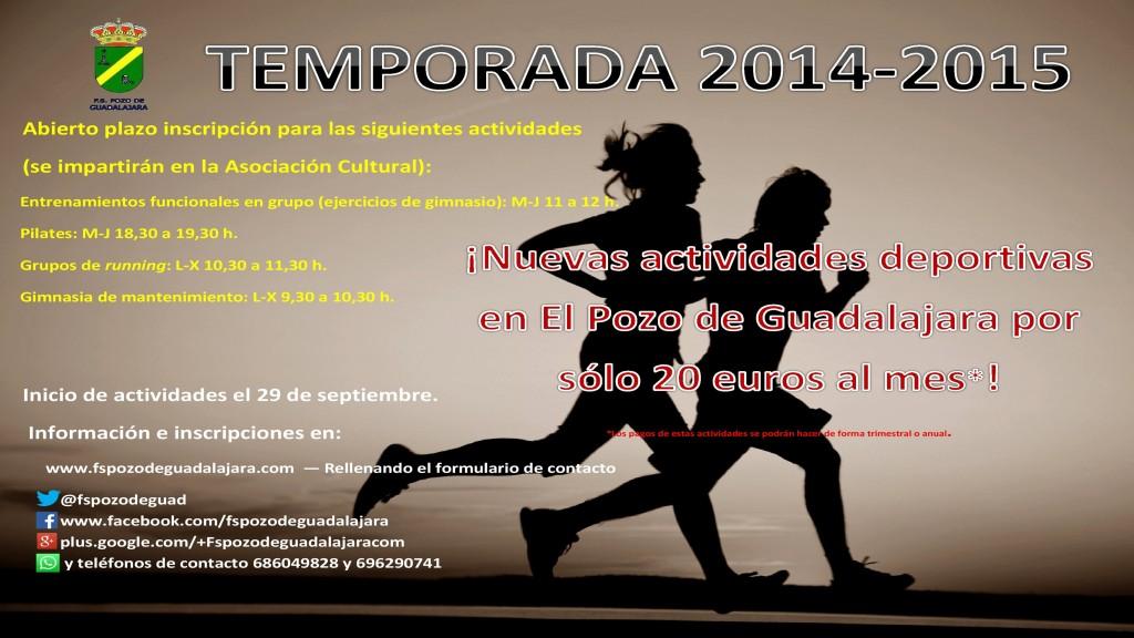 Cartel 2015 Otras Actividades FS Pozo de Guadalajara